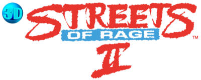 3D Streets of Rage 2 logo (EU Version)