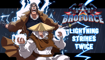 Broforce - Lightning Strikes Twice Key Art