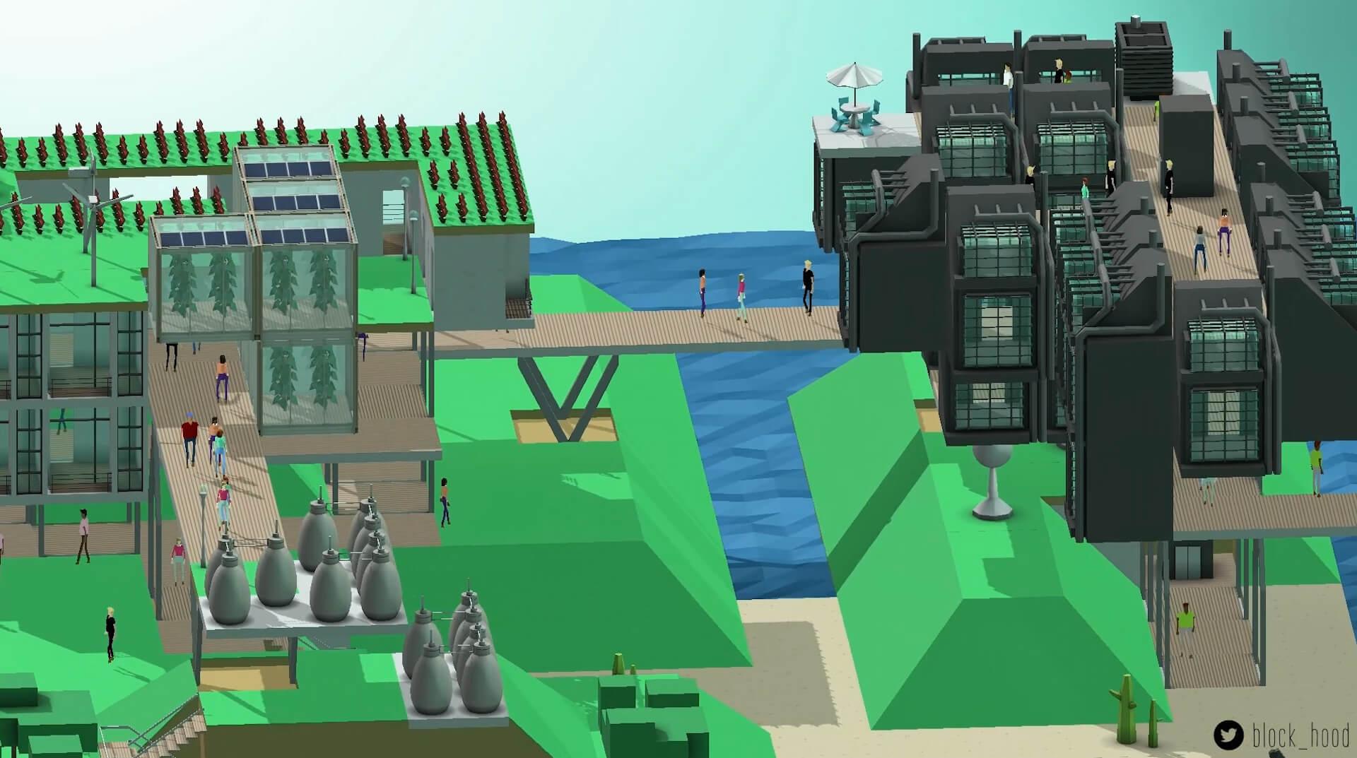 Neighborhood builder block hood gets inhabited in massive for Virtual house building games online