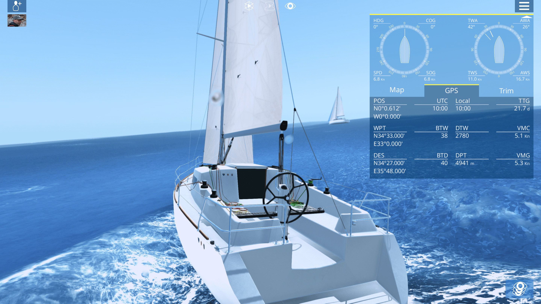 ein segel simulator aber sicher sailaway segelt im. Black Bedroom Furniture Sets. Home Design Ideas