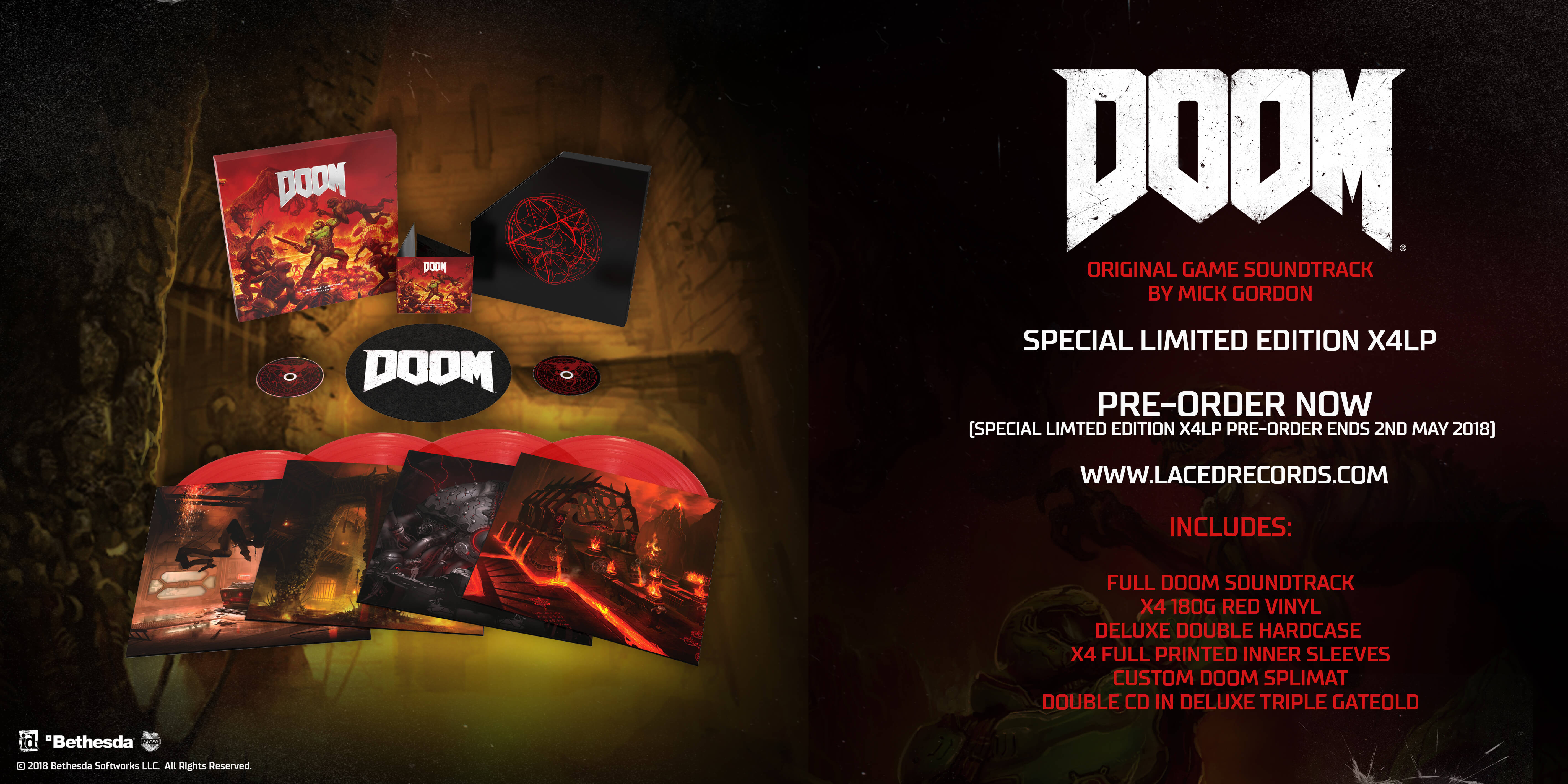 DOOM® (Original Game Soundtrack) rips and tears its way onto
